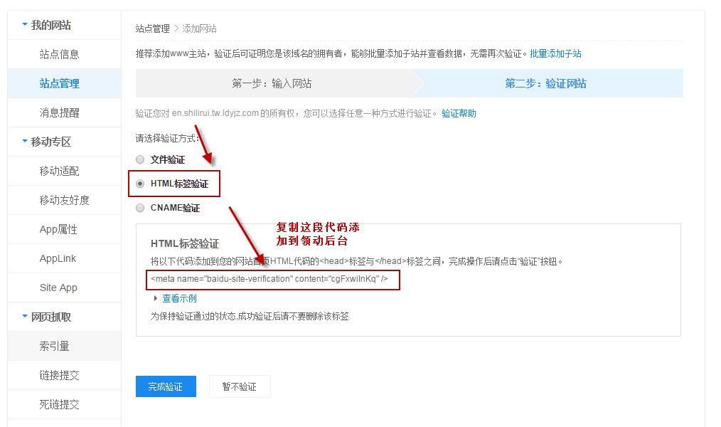 输入网站后需要验证网站